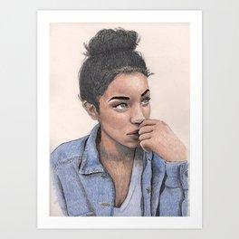 Jean Jacket Art Print