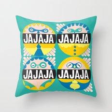 Hahaha culo hahaha ! Throw Pillow