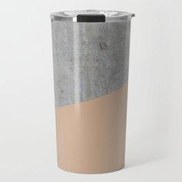 Concrete and Hazelnut Color Travel Mug