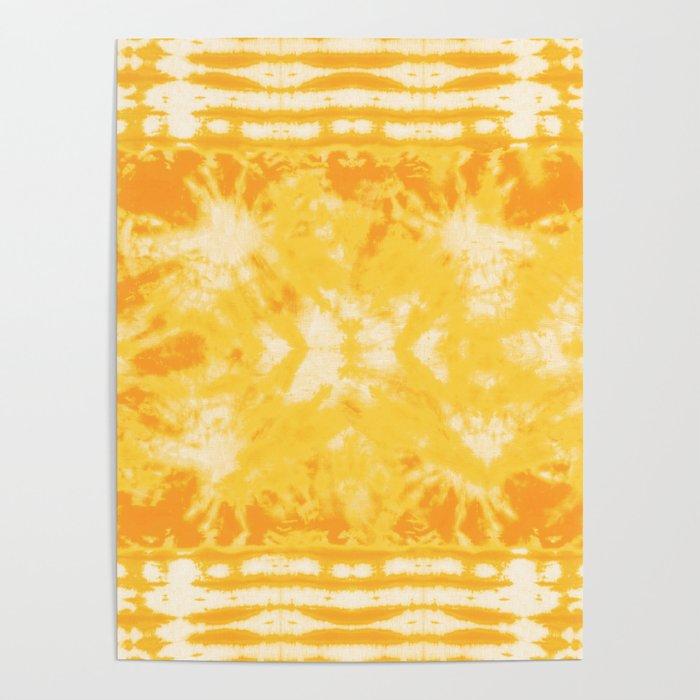 Shibori Beach Sun Poster