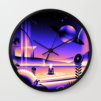 oasis Wall Clocks featuring Oasis by victormgraphics