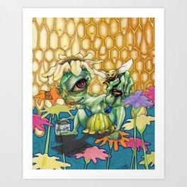 Eye of the Bee Holder Art Print