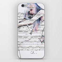 Waiting Place on sheet music iPhone Skin