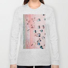 Ocean Print, Beach Print, Wall Decor, Aerial Beach Print, Beach Photography, Bondi Beach Print Long Sleeve T-shirt