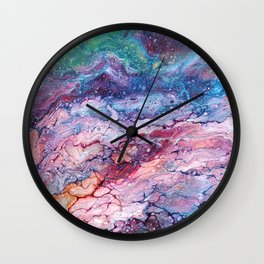 Rainbow Dream Groovy Flow #22 Wall Clock