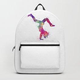 Hip-Hop Girl 3 Art Colorful Purple Watercolor Gift Hip-Hop Dance Art Hip-Hop Dancer Choreography Art Backpack