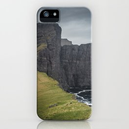 The Cliffs of the Faroes iPhone Case