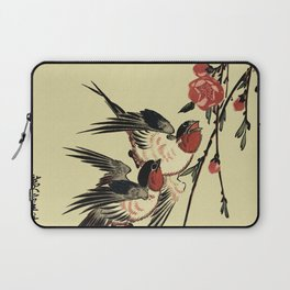 Moon Swallows and Peach Blossoms Laptop Sleeve