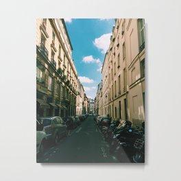 Spring in Paris - Le Marais Street Scene Metal Print