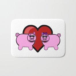 Piggy Love Bath Mat