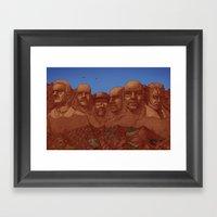 Mount Heisenberg Framed Art Print