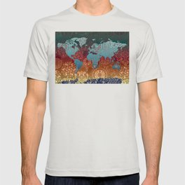 world map mandala vintage T-shirt
