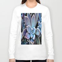 succulent Long Sleeve T-shirts featuring succulent plant by  Agostino Lo Coco