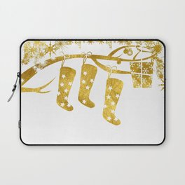 Gold Christmas 02 Laptop Sleeve