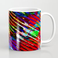 stripe Mugs featuring stripe by barmalisiRTB