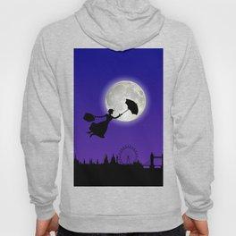 Magical Nanny Over London - purple blue Hoody