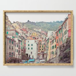 Cinque Terre - Italy Travel Photography Serving Tray