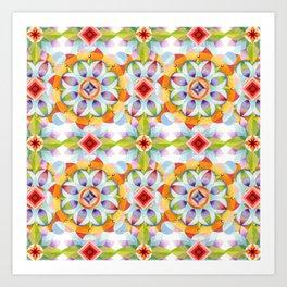 Flower Garden Kaleidoscope Art Print