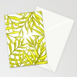 Palm Fronds in Yellow Mk1 Stationery Cards
