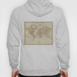 Vintage Map of The World (1775) 4 Hoody