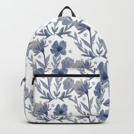 Chambray Flower Pattern Backpack