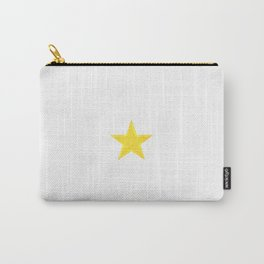 Golden Star on White Carry-All Pouch