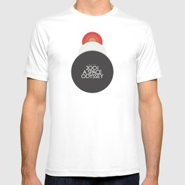 2001 A Space Odyssey - Stanley Kubrick minimalist movie poster, Red Version, fantasy film T-shirt