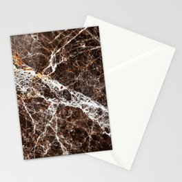 Brown Marble Stationery Cards