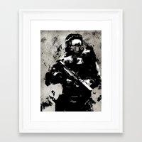 master chief Framed Art Prints featuring video Game poster by Fan Prints