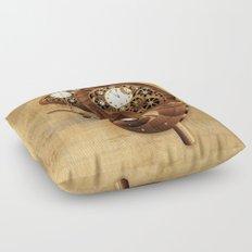 Steampunk Chameleon Vintage Style Floor Pillow