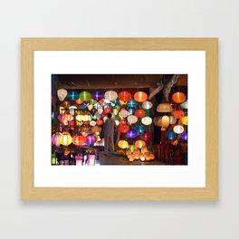 Colored lanterns Framed Art Print