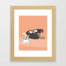 Coffee and Pug Framed Art Print