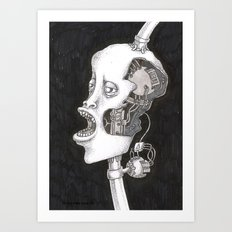 The head. Art Print