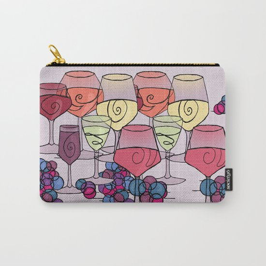 Wine and Grapes v2 Carry-All Pouch