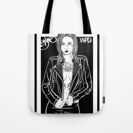 Tattooed Pin Up-Girl Tote Bag