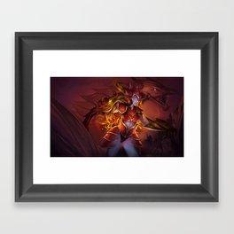 THE HALF DRAGON Framed Art Print