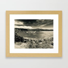 The Wind and the Waves in Black and White Framed Art Print