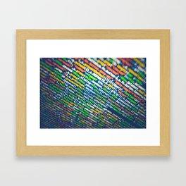 Colorful Code (Color) Framed Art Print