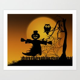 Spooky Halloween 5 Art Print