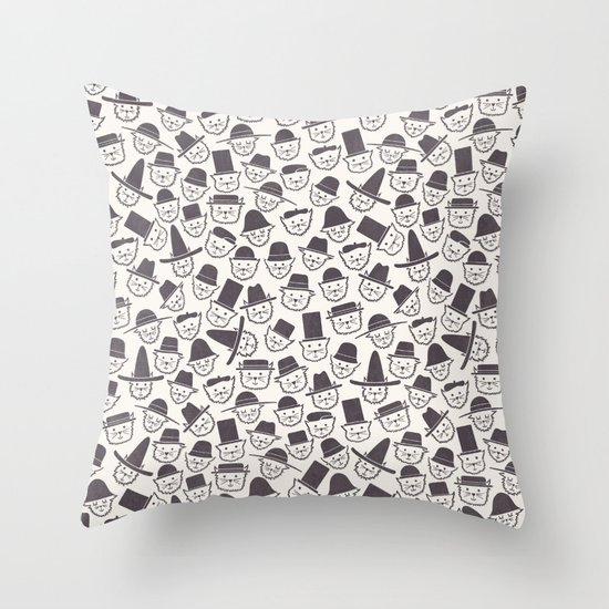 Cats With Hats Throw Pillow