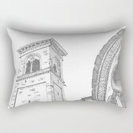 Bergamo Square, Italy Rectangular Pillow