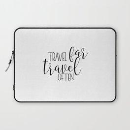 TRAVEL POSTER, Travel Far Travel Often,Travel Gifts,Travel Decor,Quote Prints,Scandinavian Poster,Pr Laptop Sleeve