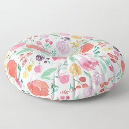 Peony Roses and Floral blooms Floor Pillow