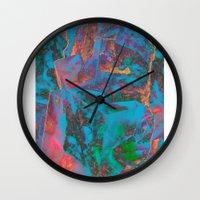 ed sheeran Wall Clocks featuring M024-ed by MTHSN