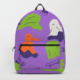 Let's ghost out and skateboarding Backpack