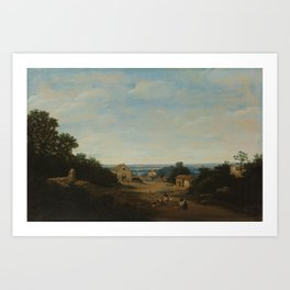 Brazilian landscape with the village of Igaraçú. To the left the church of Sts Cosmas and Damian, Fr Art Print