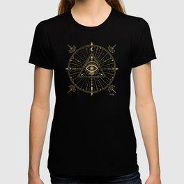 All-Seeing Eye Mandala – Gold Palette T-shirt