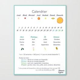 Calendrier Canvas Print
