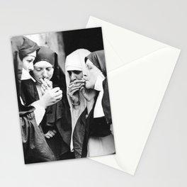 Smoking Nuns Stationery Cards