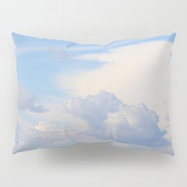 Blue Lakescape With White Clouds In The Blue Sky #decor #society6 Pillow Sham